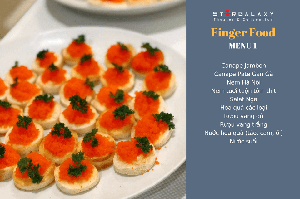 SET FINGER FOOD MENU 1