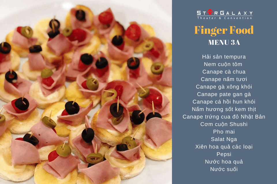 SET MENU FINGER FOOD 3