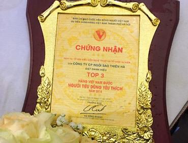 Star Galaxy nhận giải TOP 3 hàng Việt Nam được người tiêu dùng yêu thích năm 2018