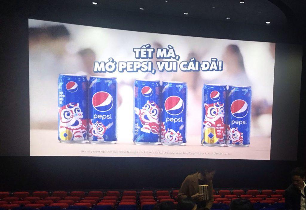 quảng cáo tại rạp chiếu phim , quảng cáo TVC trong phòng chiếu