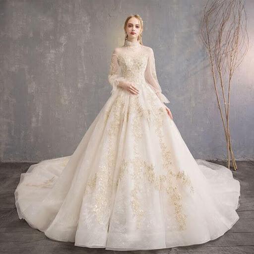 xu hướng Váy cưới dài tay